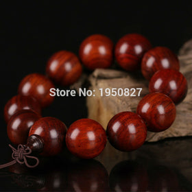 Laos Red Rosewood Beads Men Jewelry Wood Bracelet Buddhism Beads Bracelets