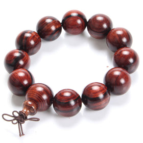 High Density Fine Texture Buddha Bracelets Red Willow Bead Bracelet Wrist Ornament Wood Men and Women Gift jewelry