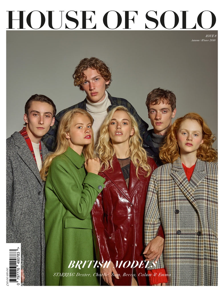 Autumn/Winter 18 issue of HOUSE OF SOLO featuring Models 1