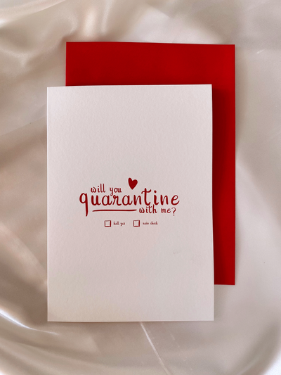 Quarantine with me Card