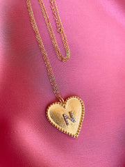 Big Heart Letter Necklace