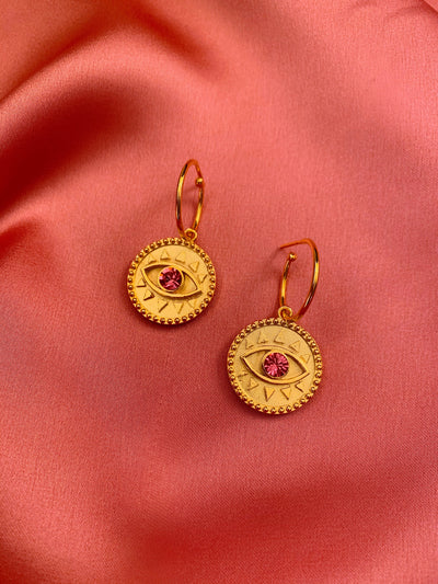 Eye Coin Earrings