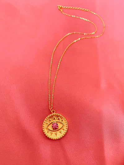 Eye Coin Necklace