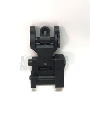 Metal Rail-mounted Rear Folding Battle Sight (Black) #EX-062 for Tactical Airsoft