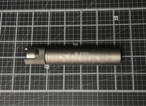 G Style Halo 5.56mm Silencer Suppressor for Tactical Airsoft - Silver
