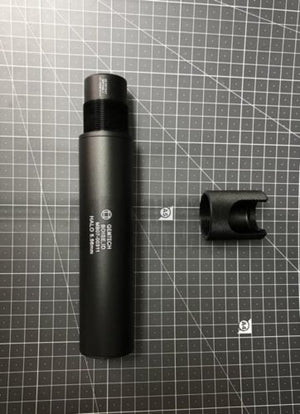 G Style Halo 5.56mm Silencer Suppressor for Tactical Airsoft - Black