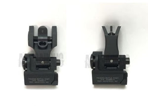 Rail-mounted Front & Rear Folding Battle Sight M 4 style for Airsoft #EX-061062