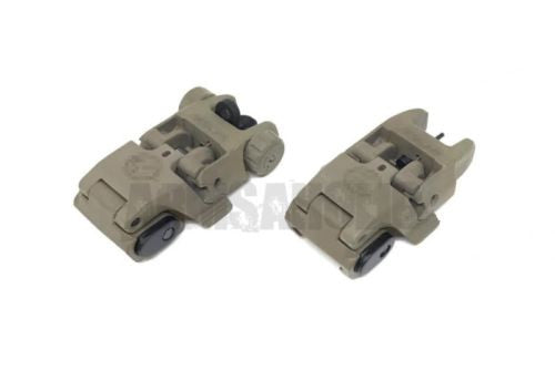 Rail-mounted Front & Rear Folding Battle Polymer Sight M4 style for Airsoft