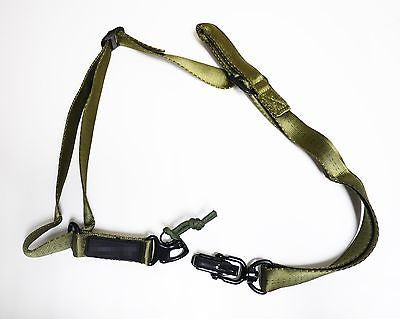 Airsoft MS2 2-Point style Sling Belt  tactical heavy metal buckle-Green