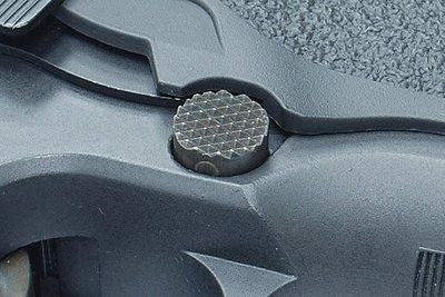 Guarder Steel Magazine Release Button for MARUI / KJ / WE P226 (E2 Type) #P226-26(B)BK