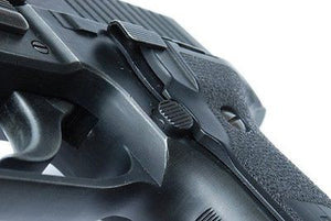 Guarder Steel Magazine Release Button for MARUI / KJ / WE P226 (Early Type) #P226-26(A)BK