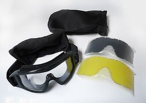 AIRSOFT PAINTBALL TACTICAL MILITARY GOGGLES BLACK