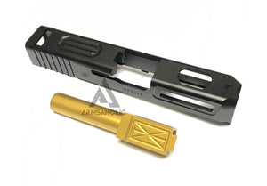 Guns Modify CNC Aluminum Z-Style G26 Slide / Stainless Barrel Set for Tokyo Marui G26 GBB series