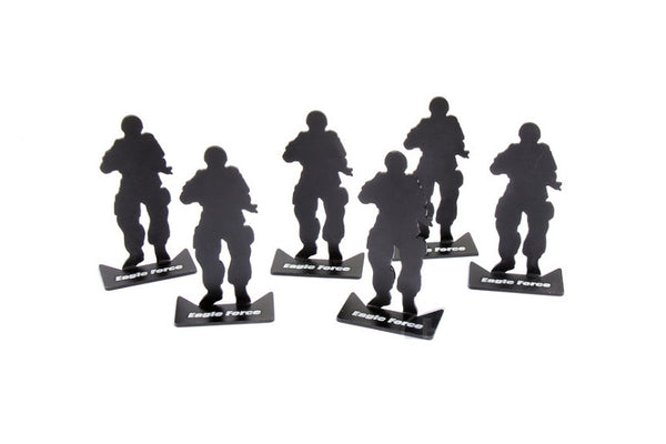 Pack of 6 - ARMYFORCE Soldier Silhouette Matel Mini Target #AF-MC0001