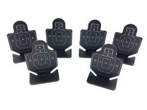 Pack of 6 - ARMYFORCE Silhouette Matel Mini Target - Type A #AF-MC0003
