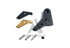 Bomber Airsoft S-Type CNC Aluminum Adjustable Trigger for Marui/VFC G-Series - Black