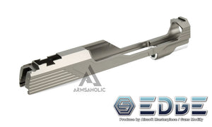 "EDGE Custom ""MEGA"" Aluminum Standard Slide for Hi-CAPA/1911 Titanium Grey"