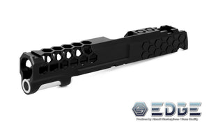 "EDGE Custom ""HIVE"" Aluminum Standard Slide for Hi-CAPA/1911 Black"