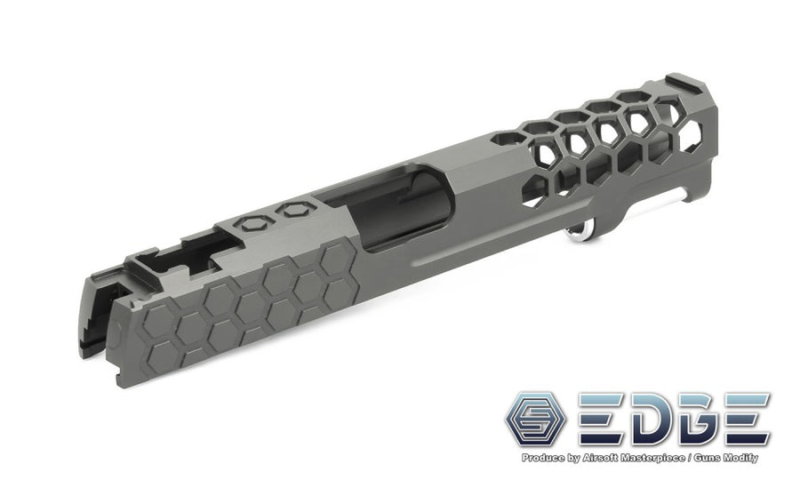 "EDGE Custom ""HIVE"" Aluminum Standard Slide for Hi-CAPA/1911 Titanium Grey"