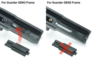 GUARDER Serial Number Tag Set for Tokyo Marui G17(Early Type) #GLK-126A