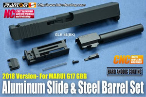 Guarder Aluminum Slide & Steel Barrel Set for Marui G17 (2018 Version) Black #GLK-46(BK)
