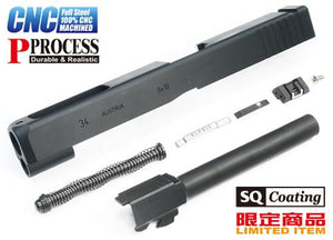 Guarder G34 Steel CNC Slide & Barrel Kit for TM G17 (Standard Ver. Black)