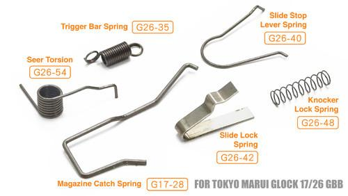 Guarder Enhanced Spring Set for Tokyo Marui / KJ / WE G-series #GLK-86
