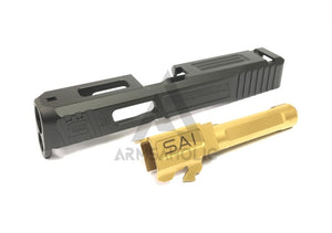 Gun Modify CNC Aluminum S-Style G26 Slide / Stainless Barrel Set for Tokyo Marui G26 GBB series