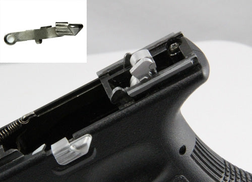 Guns Modify LW Type Extended Slide Stop for Tokyo Marui G17 / G18C / G26 G-Series #GM0019-Silver