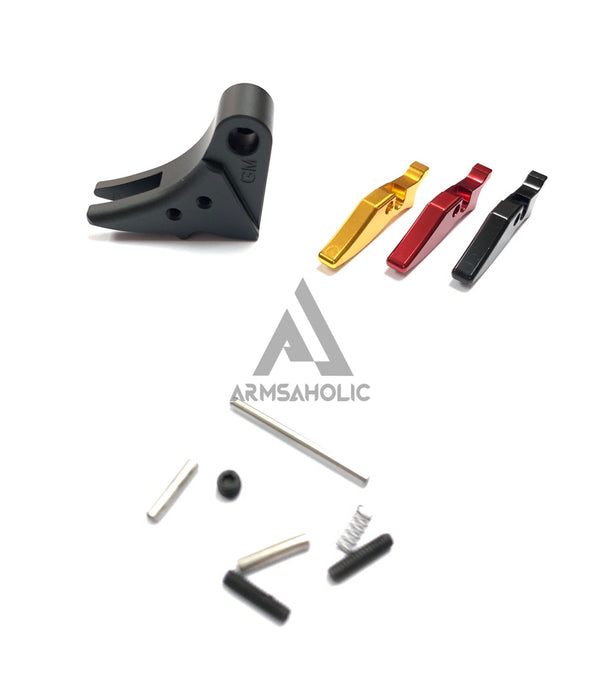 Guns Modify Aluminum Adjustable Trigger for Marui G-Series GBB (Black/Ver.3)