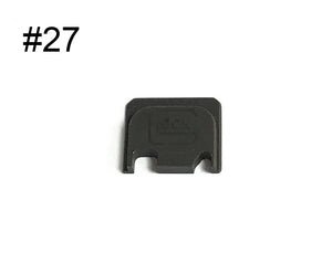 Guns Modify Aluminum CNC GBBU Rear Plate with logo for GBB Housing Set #GM0049