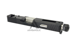 Guns Modify SA Style Slide Threaded Stainless Barrel (Silver) Housing & Parts for Marui G17 #GM0425