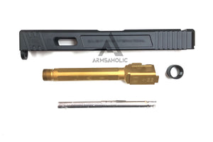 GunsModify SA Alu CNC Slide/Stainless 4 fluted Threaded Gold barrel Set for TM G17