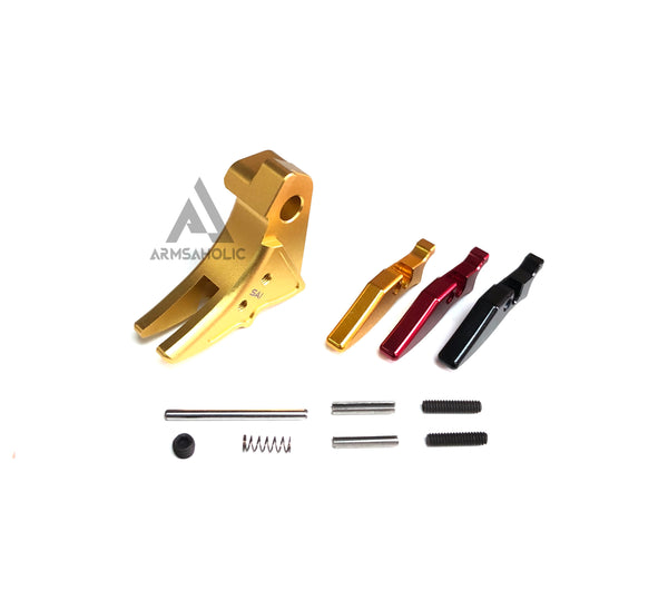 Guns Modify Aluminum Adjustable Trigger for Marui G-Series GBB (Golden/S Style)