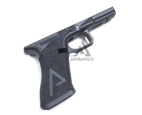 ArmsAholic Custom AGA-style Lower Frame for Marui 17 / 18C / 34 Airsoft GBB - Big Logo Version 2018