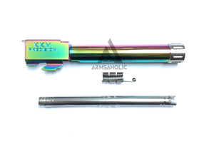 Guns Modify Stainless Thread Barrel ( KKM )-14mm for Tokyo Marui G17/18C GBB - Nitride Rainbow