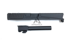 Nova SD-Style CNC Aluminum Slide Set For Marui G17/22 GBB Series - Black (Without Window Version)