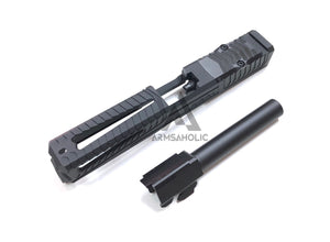 Nova SD-Style ( Window Version ) CNC Aluminum Slide Set For Marui G17/22 GBB Series - Black