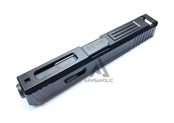 GunsModify SA Alu CNC Slide/Stainless 4 fluted Black barrel Set for TM G19