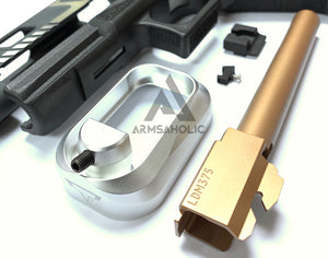 Nova T-Style JW G34 Aluminum Slide Kit for TM Tokyo Marui Airsoft G17 / 34 GBB Series - Shiny Two Tone