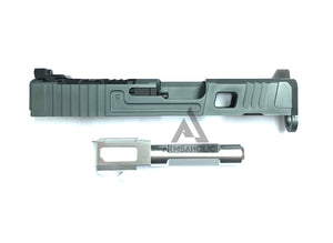 Nova FI-Style 26 Aluminum Slide Set For Marui G26 GBB Series - Titanium Gray