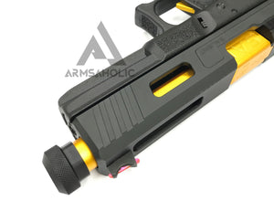 ArmsAholic Custom - S-style G17 Tactical Gold Arisoft GBB