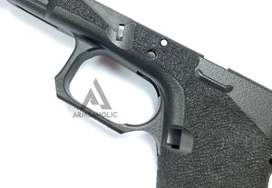 ArmsAholic Custom AGA-style Lower Frame for Marui 17 / 18C Airsoft GBB - Black New Version