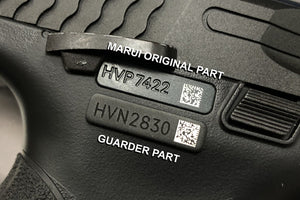 Guarder Matrix Series Number Tag for MARUI M&P 9 (TYPE A/Black)