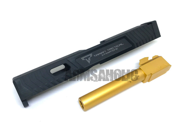 Nova T-style G17 Aluminum Slide for Marui Arisoft G17 GBB series - Black Limited