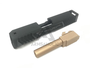 Nova T-style G26 Aluminum Slide for Marui Airsoft G26 GBB series - Shiny Black Limited Edition
