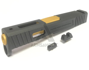 Aluminum S-style G43 Slide with (Golden) barrel Set for Hogwards / VFC / Taiwan Airsoft G42 GBB series