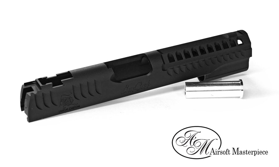 Airsoft Masterpiece LimCat Custom Standard Slide for Hi-CAPA / 1911 Black