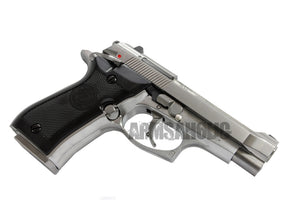 WE Full Metal M84 GBB Airsoft Pistol - Silver