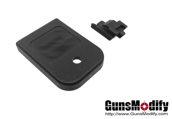 Guns Modify High Tenacity Polymer Magazine Base Pad for Marui/GunsModify G-Series - Black #GM0386